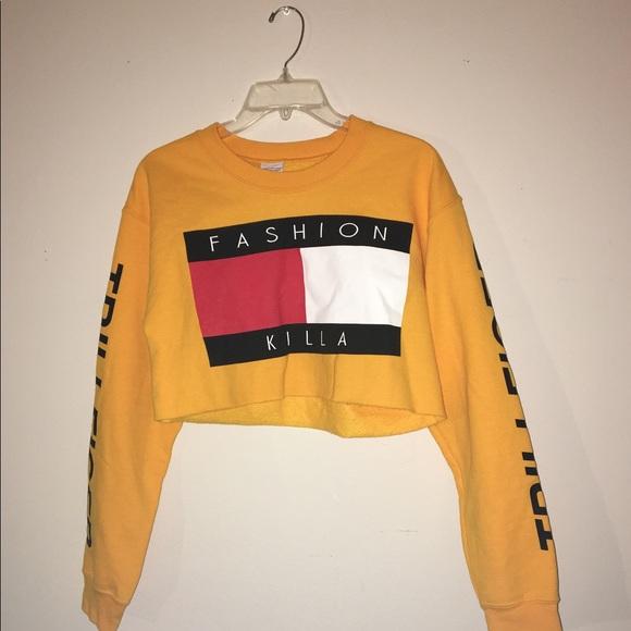 e1cd11783 Tops | Fashion Killa Trillfiger Cropped Sweatshirt | Poshmark